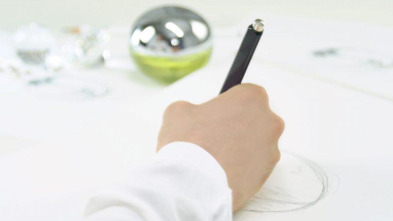 DKNY sketch hand