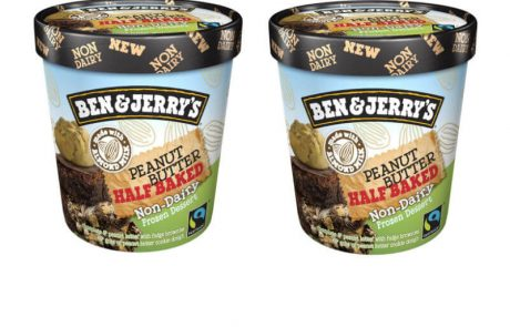 "<span class=""entry-title-primary"">בן & ג'ריס מחדשת עם ""חצי אפוי פינט באטר"" –גלידה 100% טבעית – על בסיס חלב שקדים</span> <span class=""entry-subtitle"">גלידה בטעם שוקולד עם חתיכות פאדג' וגלידת חמאת בוטנים עם בצק עוגיות חמאת בוטנים</span>"