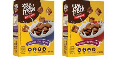 """<span class=""""entry-title-primary"""">פשוט טעים ללא גלוטן:Refresh משיקה דגני בוקר ללא גלוטן במילוי קרם שוקולד ובמילוי קרם נוגט</span> <span class=""""entry-subtitle"""">דגני הבוקר של רפרש עשויים מקמח אורז וקמח תירס איכותיים היוצרים את הציפוי הפריך המשולם לקרם השוקולד והנוגט העשיר</span>"""