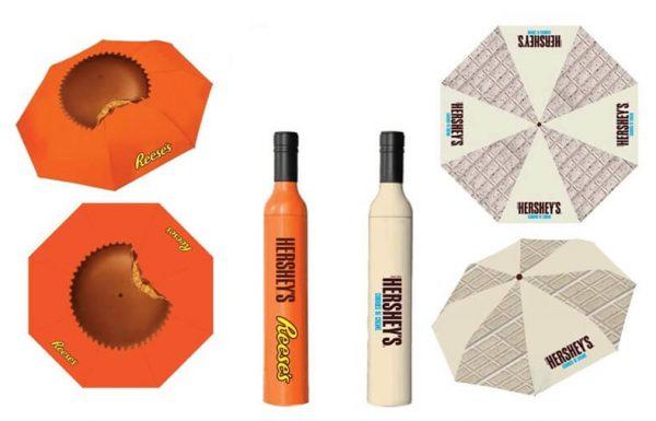 """קונים ממוצרי הרשי וריסז (Reese's) ב-29.90 ש""""ח ומקבלים במתנה מטרייה בבקבוק מעוצב וממותג"""