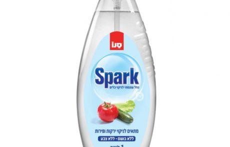 "<span class=""entry-title-primary"">סנו SPARK מתחדש בנוזל לניקוי כלים, מבריק ומסיר שומנים.</span> <span class=""entry-subtitle"">מתאים לשטיפת פירות וירקות וכלי תינוקות ללא צבע וללא בושם.</span>"