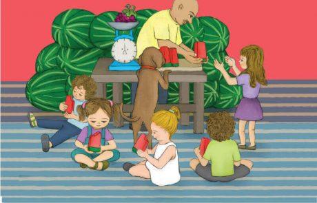 """<span class=""""entry-title-primary"""">ספר ילדים חדש ומשעשע על המדף: האבטיח של אדון אלמליח מאת רותי שקד, בהוצאת דני ספרים</span> <span class=""""entry-subtitle"""">מביא את סיפורה של הילדה הילה המבקשת מסבא שלה ששומר עליה לשמוע סיפור לפני השינה</span>"""