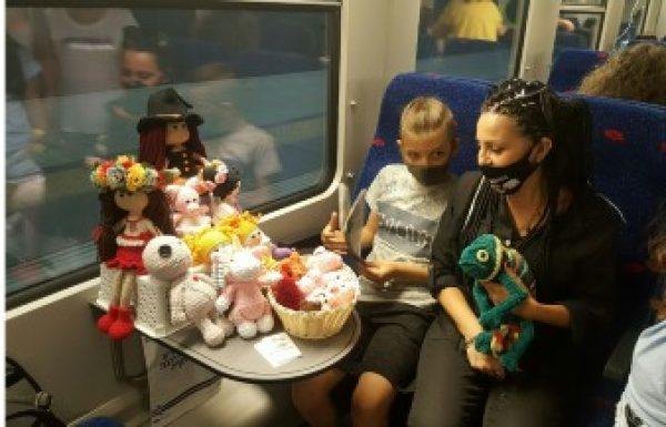 לראשונה – תצוגת אֻמָּנוּתואָמָּנוּת בנסיעה פרטית ברכבת.